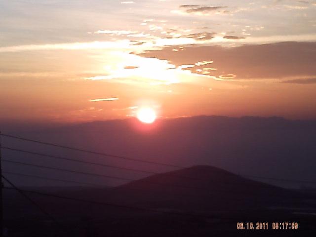 Sonnen Aufgang gesehen von San Isidro aus