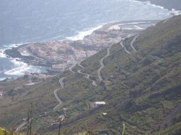 Die Serpentinen Strasse nach Garachico