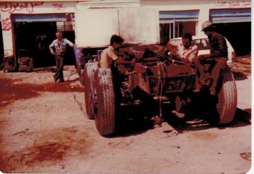 Umbau des Tankwagens zu einem Sattel-Fahrzeug